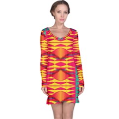 Colorful tribal texture nightdress