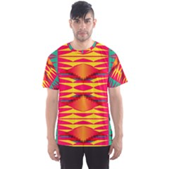 Colorful tribal texture Men s Sport Mesh Tee