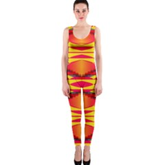 Colorful tribal texture OnePiece Catsuit