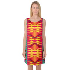 Colorful tribal texture Sleeveless Satin Nightdress
