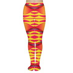 Colorful Tribal Texture Tights