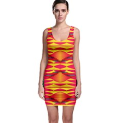 Colorful tribal texture Bodycon Dress