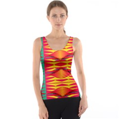 Colorful tribal texture Tank Top