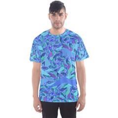 Blue Confetti Storm Men s Sport Mesh Tee