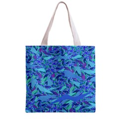 Blue Confetti Storm Grocery Tote Bag
