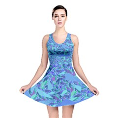 Blue Confetti Storm Reversible Skater Dress