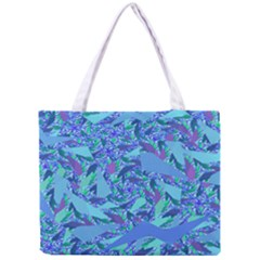 Blue Confetti Storm Tiny Tote Bag