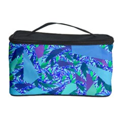 Blue Confetti Storm Cosmetic Storage Case
