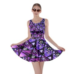 Blue purple Glass Skater Dress