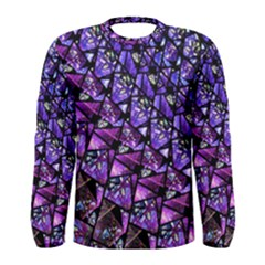 Blue Purple Glass Men s Long Sleeve T Shirt