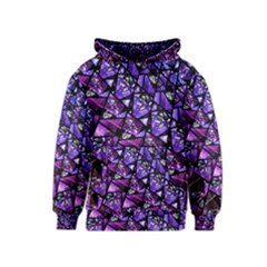 Blue purple Glass Kid s Pullover Hoodie