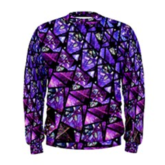 Blue purple Glass Men s Sweatshirt