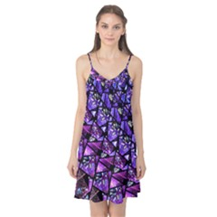 Blue purple Glass Camis Nightgown