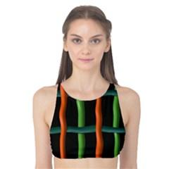 Orange green wires Tank Bikini Top