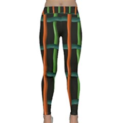Orange green wires Yoga Leggings