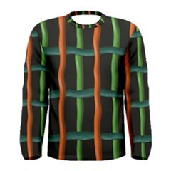 Orange green wires Men Long Sleeve T-shirt