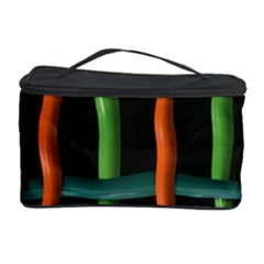 Orange Green Wires Cosmetic Storage Case