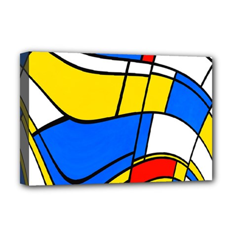 Colorful Distorted Shapes Deluxe Canvas 18  X 12  (stretched)