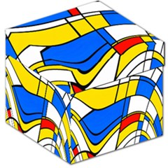Colorful distorted shapes Storage Stool