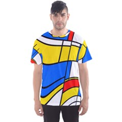 Colorful distorted shapes Men s Sport Mesh Tee