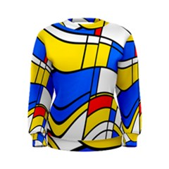 Colorful distorted shapes Sweatshirt