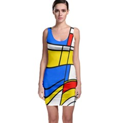 Colorful distorted shapes Bodycon Dress