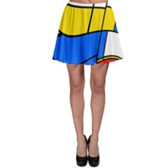 Colorful Distorted Shapesskater Skirt