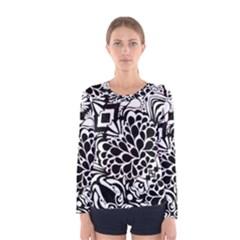 70 s Wallpaper Women s Long Sleeve T Shirt