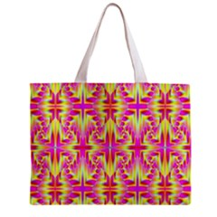 Pink and Yellow Rave Pattern Tiny Tote Bag
