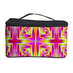 Pink and Yellow Rave Pattern Cosmetic Storage Case