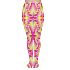 Pink and Yellow Rave Pattern Tights