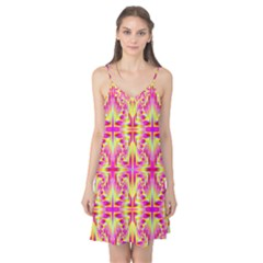 Pink and Yellow Rave Pattern Camis Nightgown