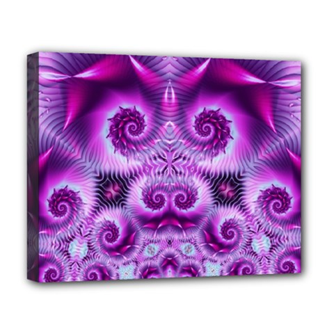Purple Ecstasy Fractal Deluxe Canvas 20  X 16  (stretched)