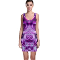 Purple Ecstasy Fractal Bodycon Dress