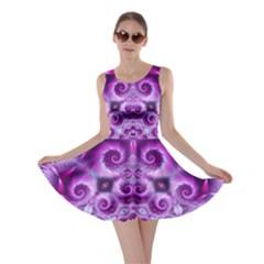 Purple Ecstasy Fractal Skater Dress