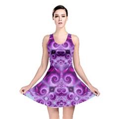 Purple Ecstasy Fractal Reversible Skater Dress