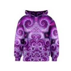 Purple Ecstasy Fractal Kid s Pullover Hoodie
