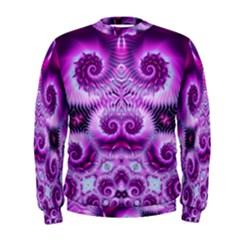 Purple Ecstasy Fractal Men s Sweatshirt