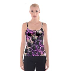 Hippy Fractal Spiral Stacks Spaghetti Strap Top