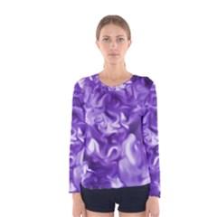 Lavender Smoke Swirls Women s Long Sleeve T-shirt