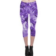 Lavender Smoke Swirls Capri Leggings
