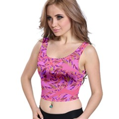 Bright Pink Confetti Storm Crop Top