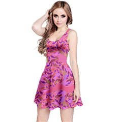 Bright Pink Confetti Storm Reversible Sleeveless Dress