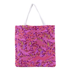 Bright Pink Confetti Storm Grocery Tote Bag