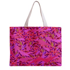 Bright Pink Confetti Storm Tiny Tote Bag