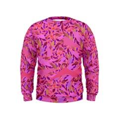 Bright Pink Confetti Storm Kid s Sweatshirt