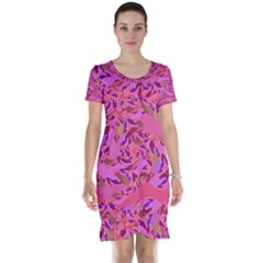 Bright Pink Confetti Storm Short Sleeve Nightdress