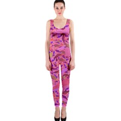 Bright Pink Confetti Storm Onepiece Catsuit