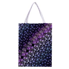 Dusk Blue And Purple Fractal Classic Tote Bag