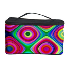 Psychedelic Checker Board Cosmetic Storage Case